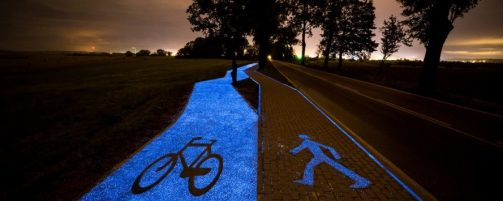 The luminescent bike path