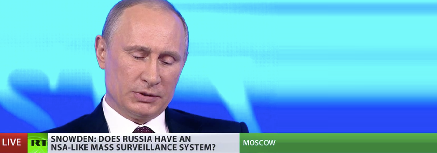 Putin tells Snowden he doesn't spy on Russians