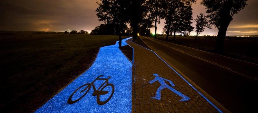 The luminescent bike path